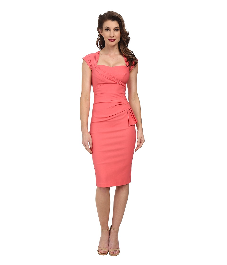 Stop Staring! - Uma Fitted Dress (Coral) Women's Dress