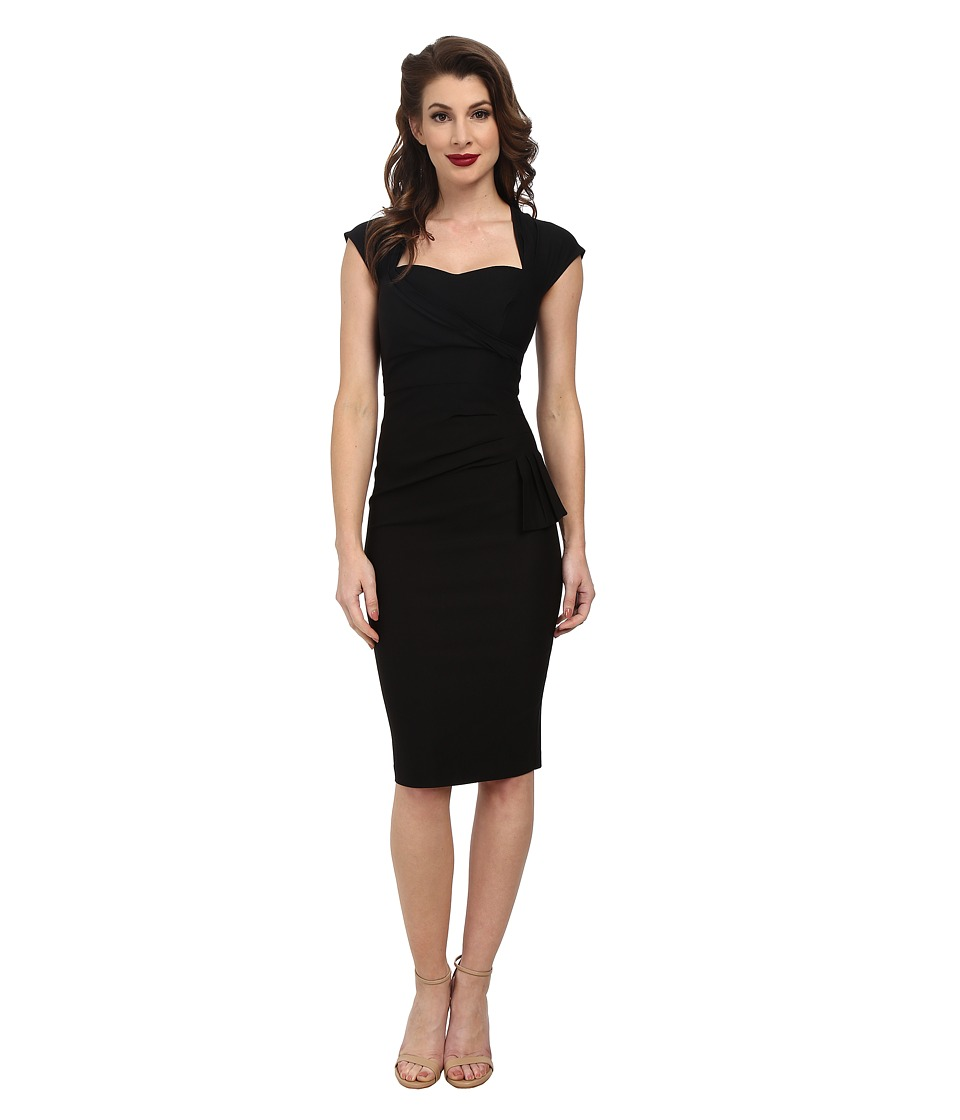 Stop Staring! - Uma Fitted Dress (Black) Women's Dress
