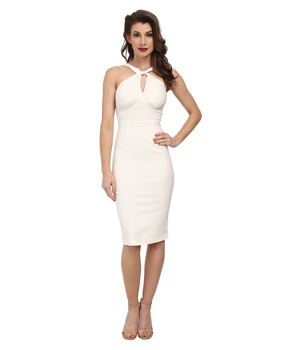 Stop Staring! - Jolie Fitted Dress (Ivory) Women's Dress