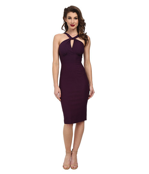 Stop Staring! - Jolie Fitted Dress (Eggplant) Women's Dress