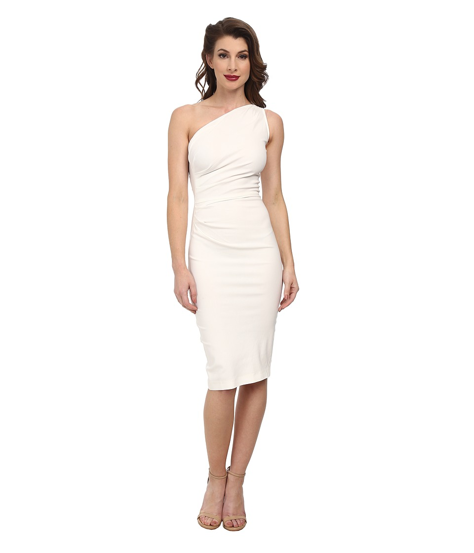 Stop Staring! - Gatthered Ava Fitted Dress (Ivory) Women