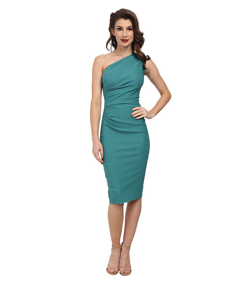 Stop Staring! - Gatthered Ava Fitted Dress (Seafoam Green) Women's Dress