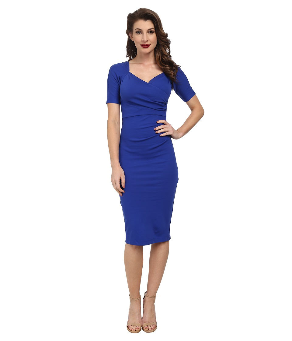 Stop Staring! - Sheba Fitted Dress (Cobalt Blue) Women's Dress