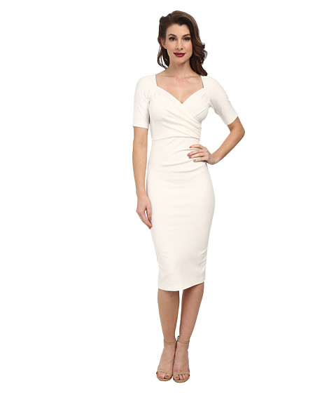Stop Staring! - Sheba Fitted Dress (Ivory) Women's Dress