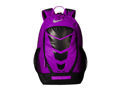 Nike - Max Air Vapor Backpack (Vivid Purple/Black/Metallic Silver) Backpack Bags