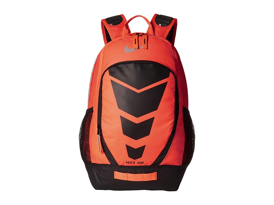 Nike - Max Air Vapor Backpack (Hyper Orange/Black/Metallic Silver) Backpack Bags