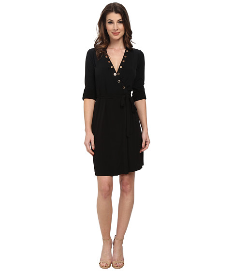Calvin Klein - Wrap Dress (Black) Women's Dress
