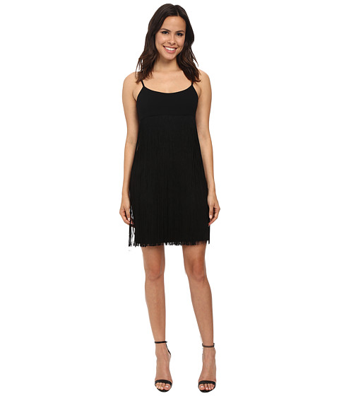 Calvin Klein - Fringe Dress (Black) Women's Dress