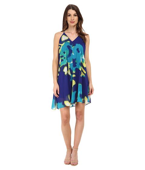 Calvin Klein - Halter Neck with High-Low Hem (Byzantine Citron) Women's Dress