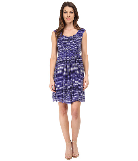 Calvin Klein - Fit Flare Chiffon (Byzantine Multi) Women's Dress