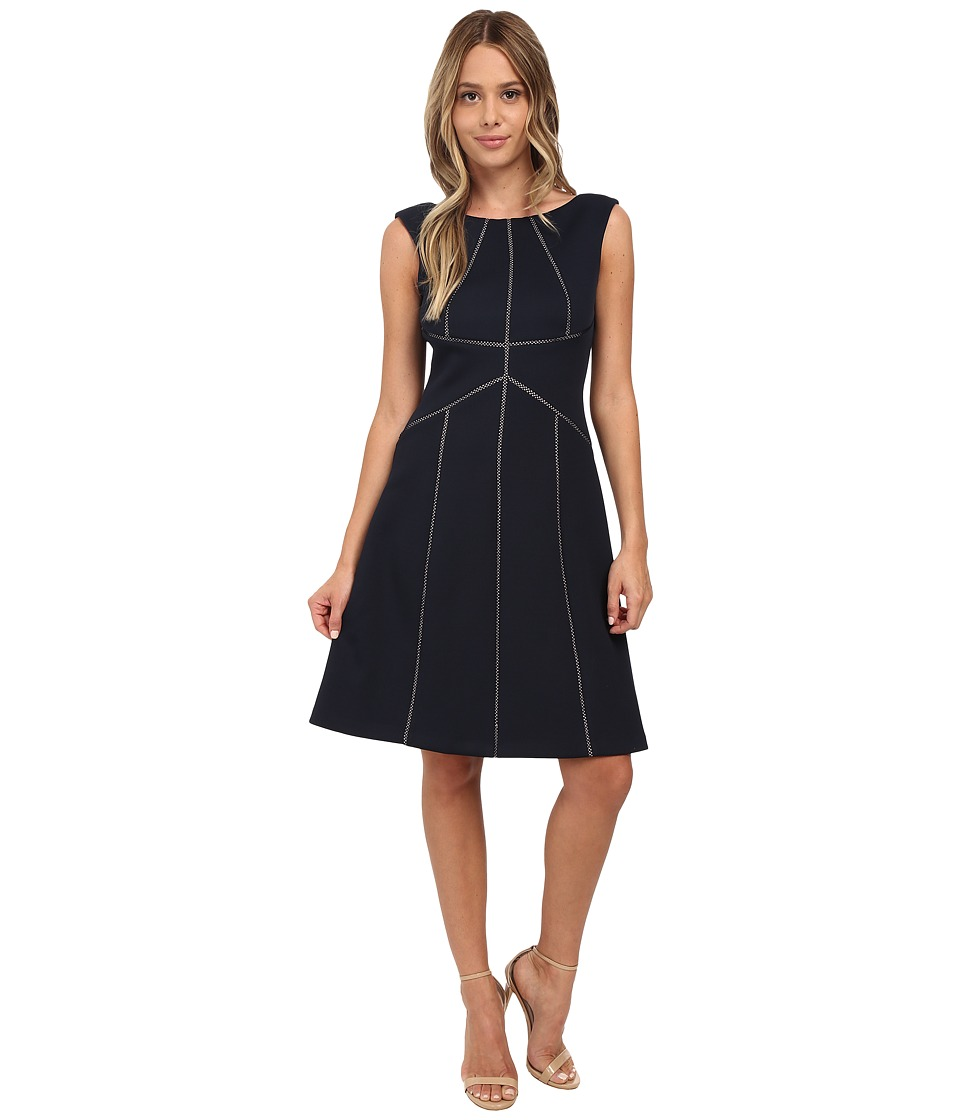 Calvin Klein - Fit Flare Dress (Twilight) Women's Dress