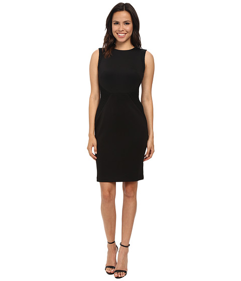 Calvin Klein - Sheath with Novelty Inserts (Black) Women