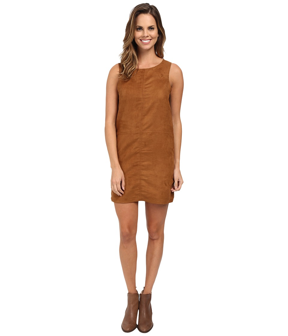 Sanctuary - Suede Village Shift (Maple) Women's Dress