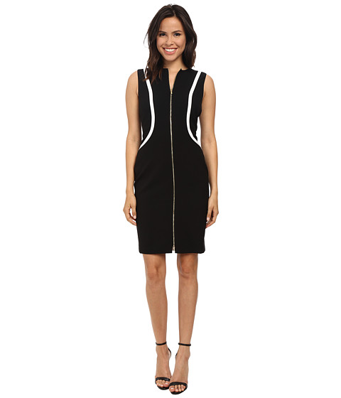 Calvin Klein - Color Block Sheath (Black/White) Women