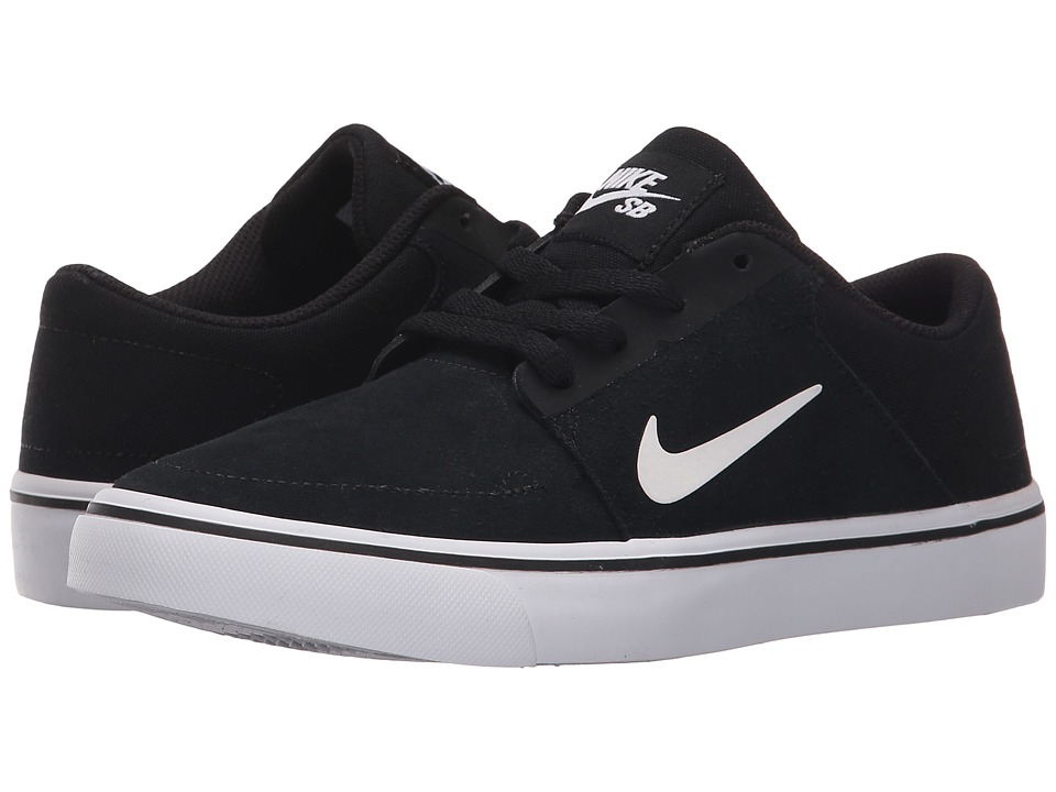 Nike SB Kids - SB Portmore (Big Kid) (Black/White/White) Boys Shoes