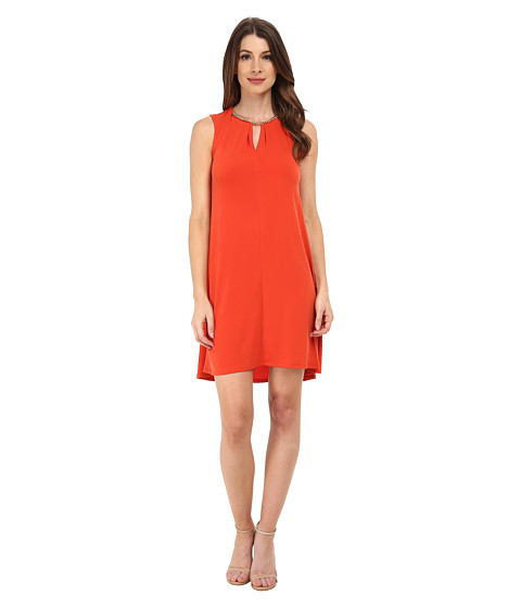 Calvin Klein - A-Line Flared (Spicy Orange) Women's Dress