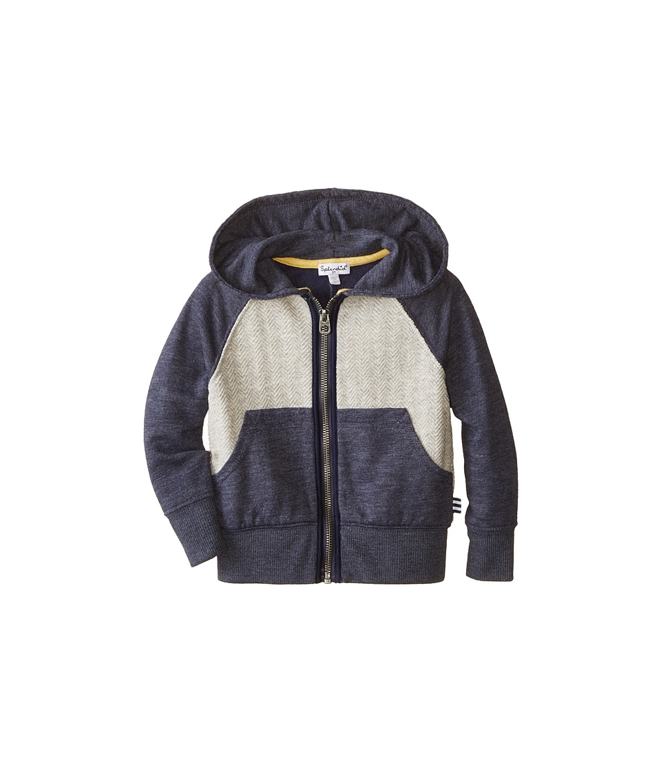 Splendid Littles - Textured Knit Hoodie (Toddler) (Dark Blue) Boy's Sweatshirt