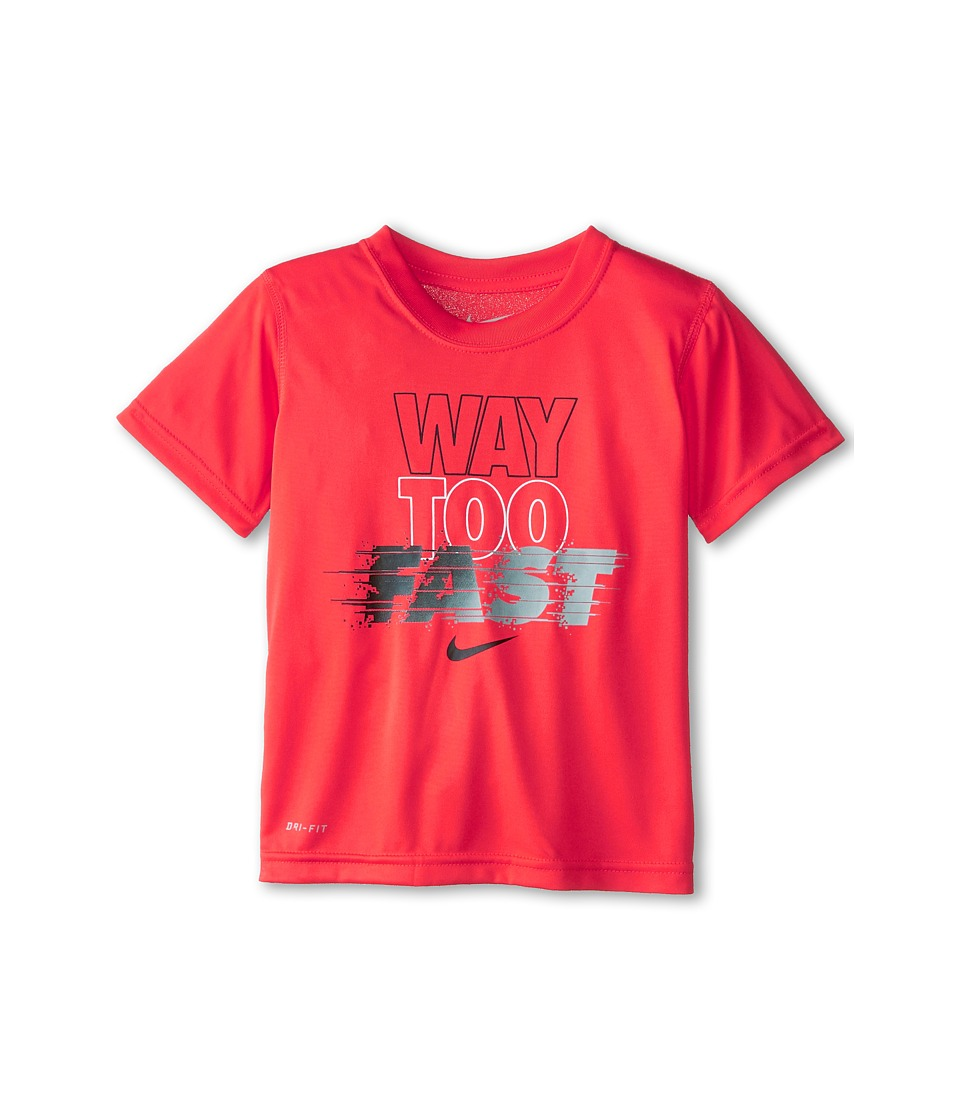 Nike Kids - Way Too Fast Dri-Fit Tee (Little Kids) (Daring Red) Boy