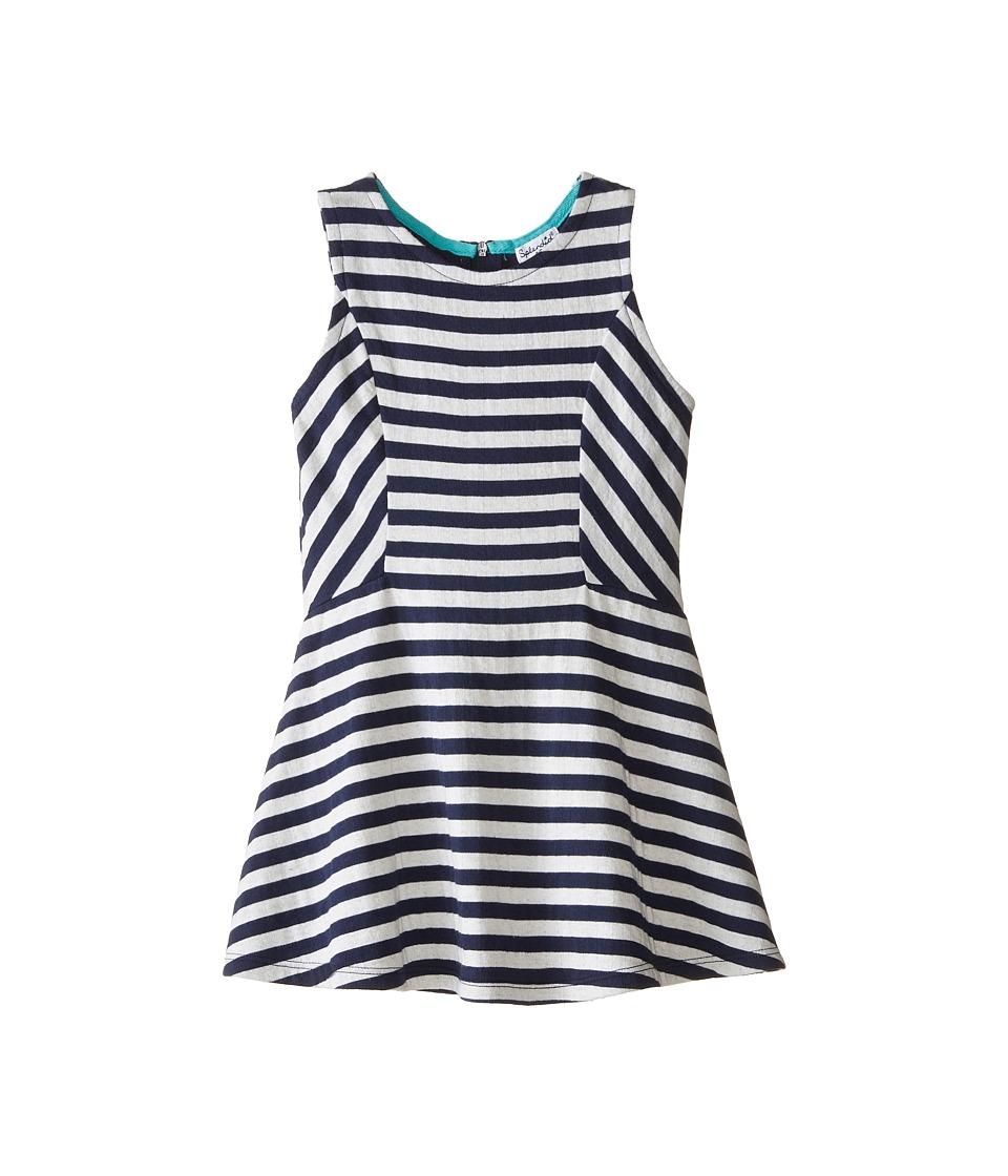 Splendid Littles - Fashion Stripe Dress (Little Kids) (Navy) Girl's Dress