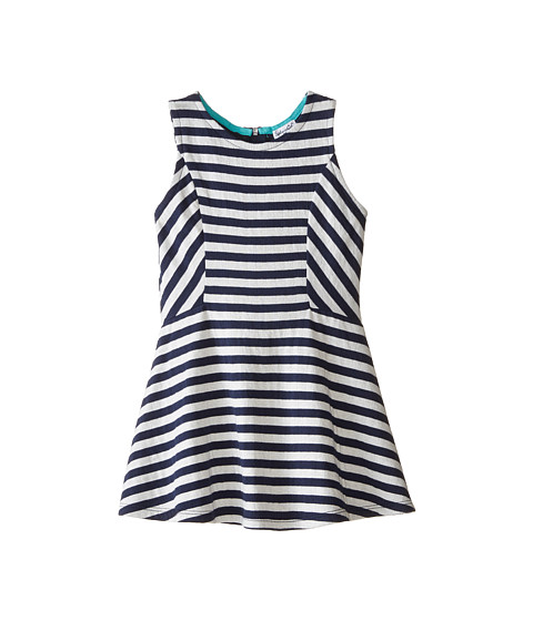 Splendid Littles - Fashion Stripe Dress (Little Kids) (Navy) Girl's Dress