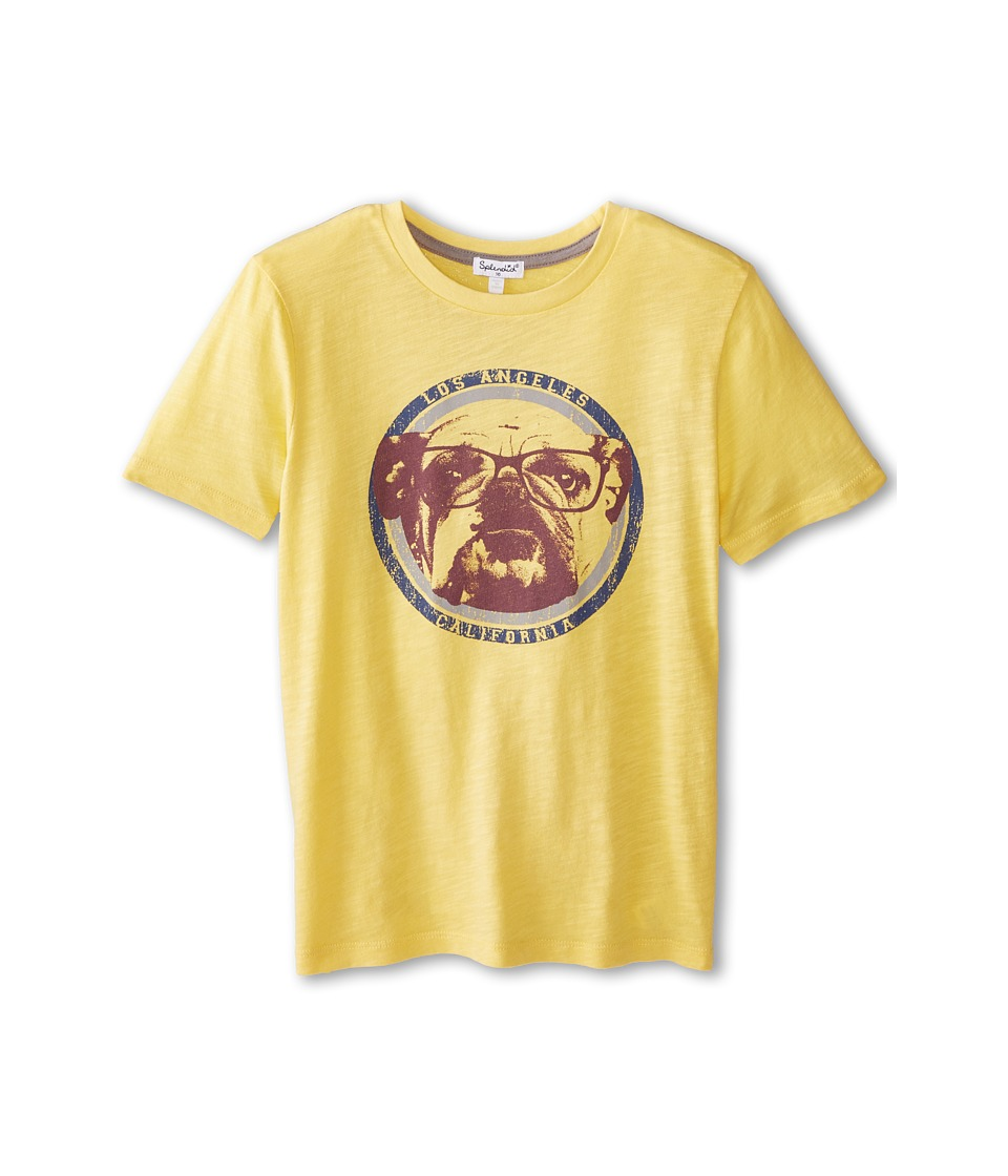 Splendid Littles - Graphic Short Sleeve Tee (Big Kids) (Yellow) Girl