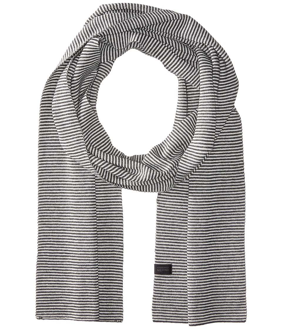 Icebreaker - Destiny Scarf Stripe (Jet Heather/Snow) Scarves