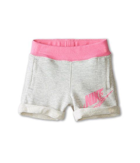 Nike Kids - Novelty Knit Shorts (Toddler) (Grey Heather) Girl
