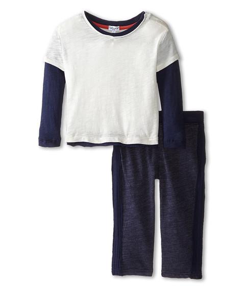 Splendid Littles - Textured Knit 2 For Set (Infant) (Off White) Boy's Active Sets