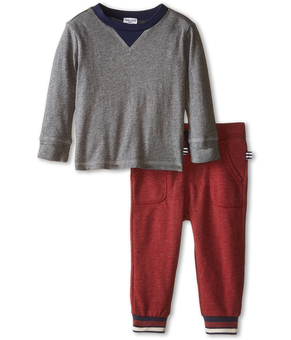 Splendid Littles - Active Pants Set (Infant) (Charcoal) Boy
