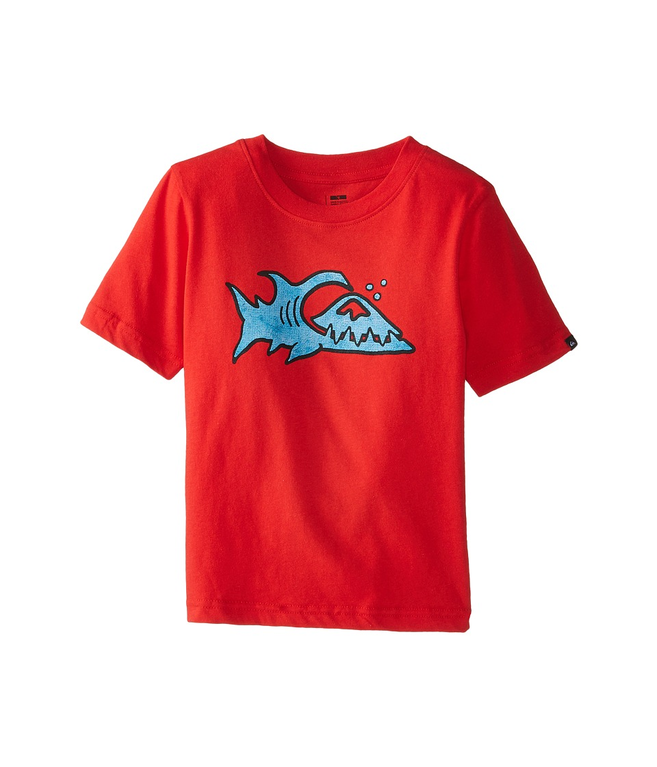 Quiksilver Kids - Fin Logo T-Shirt (Toddler/Little Kids) (Quik Red) Boy