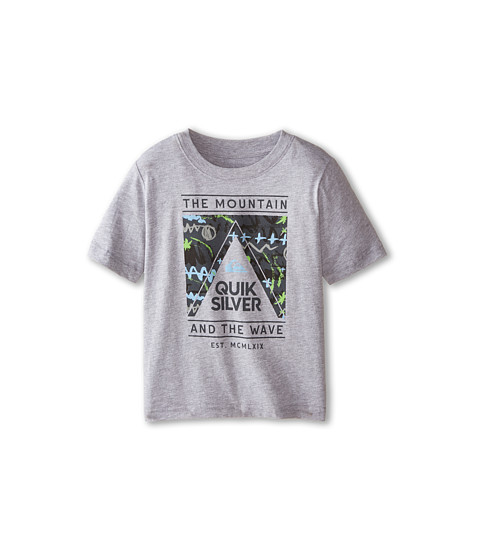 Quiksilver Kids - Wave Core T-Shirt (Toddler/Little Kids) (Grey Heather) Boy's T Shirt