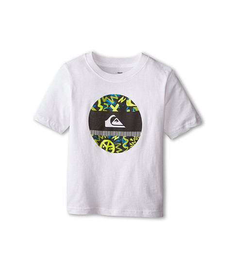 Quiksilver Kids - Disco Biscuit T-Shirt (Toddler/Little Kids) (White) Boy