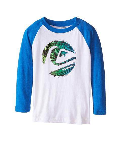 Quiksilver Kids - Ripped Circle T-Shirt (Toddler/Little Kids) (White) Boy