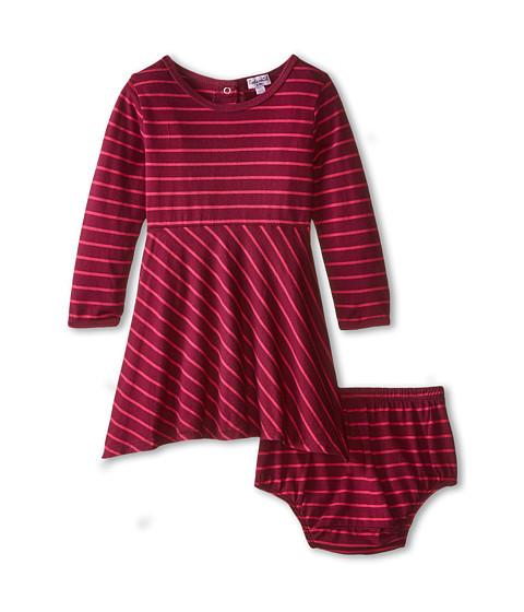 Splendid Littles - Fashion Stripe Dress (Infant) (Plum) Girl's Dress