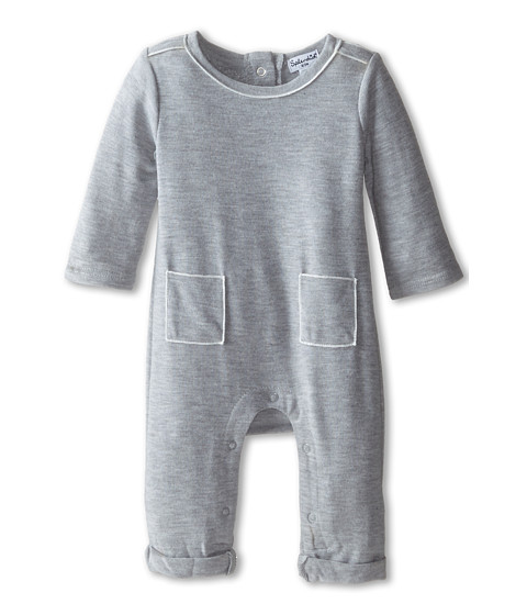 Splendid Littles - Sweater Knit Coverall (Infant) (Light Grey) Girl