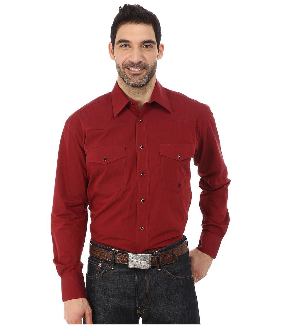 Roper - 0059 Black Fill Poplin (Red) Men's Clothing