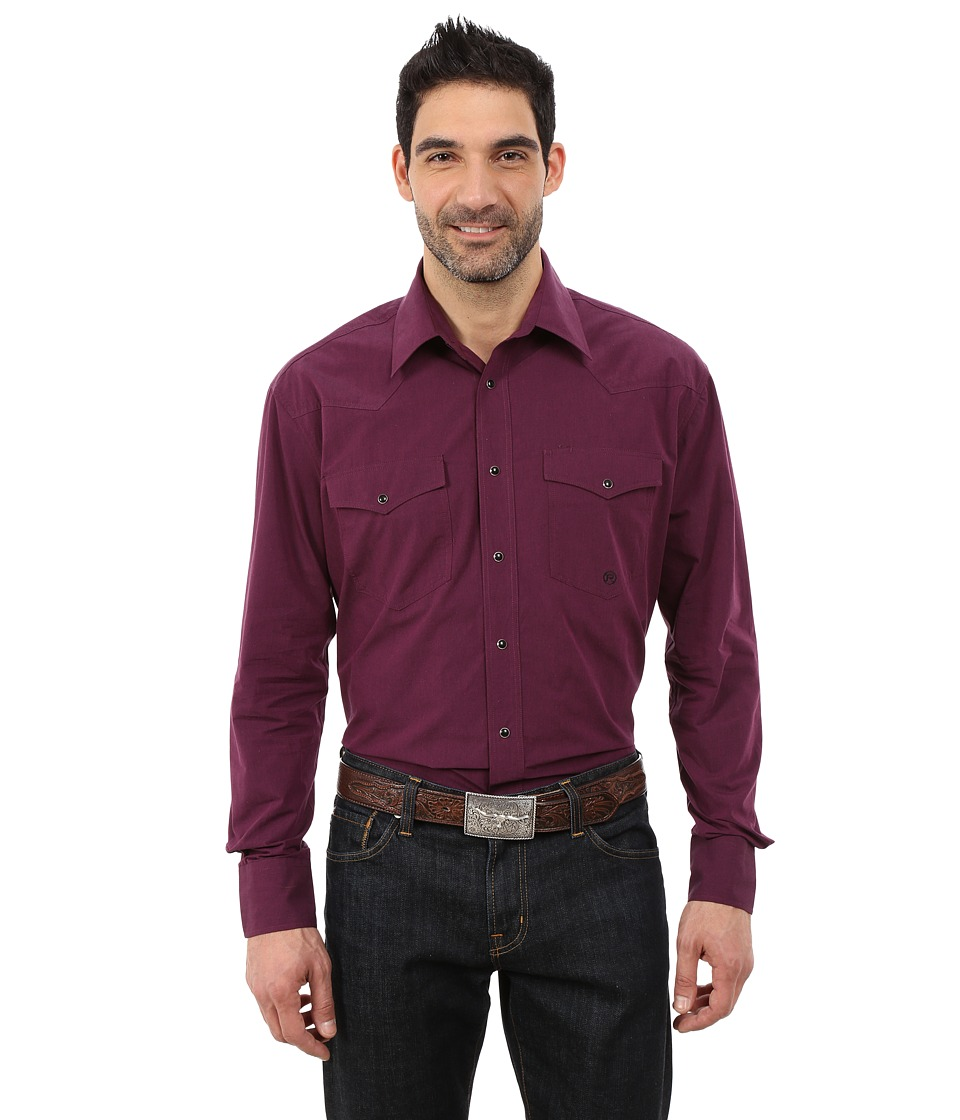Roper - 0059 Black Fill Poplin (Purple) Men's Clothing