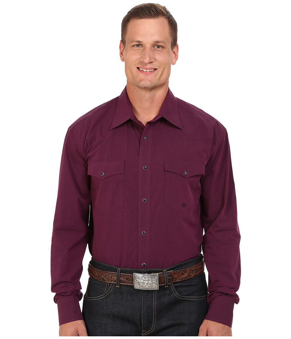 Roper - Big Tall 0059 Black Fill Poplin (Purple) Men's Clothing