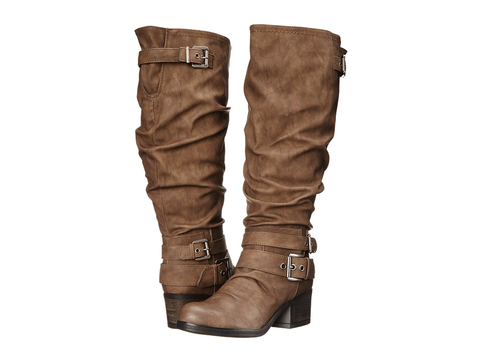 CARLOS by Carlos Santana - Claudia Wide Shaft (Taupe) Women's Boots