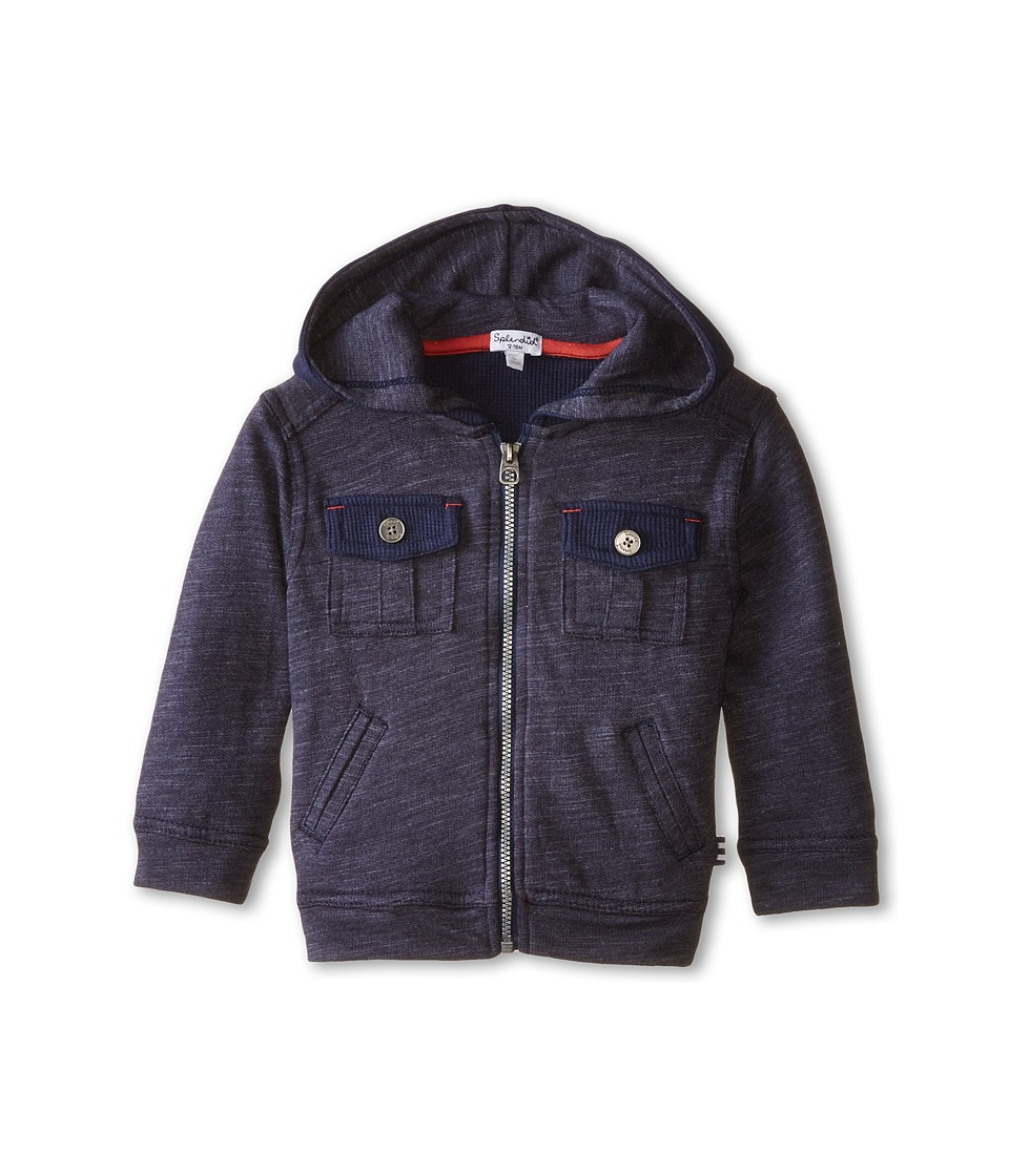 Splendid Littles - Textured Knit Zip-Up (Infant) (Navy) Boy