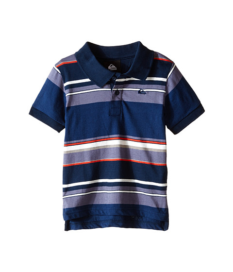 Quiksilver Kids - Decay Stripe Polo (Toddler/Little Kids) (Navy Blazer) Boy's Clothing