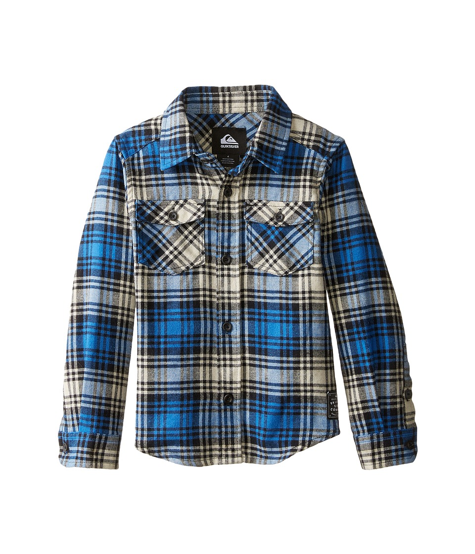 Quiksilver Kids - Everyday Flannel Shirt (Toddler/Little Kids) (Victoria Blue) Boy's Long Sleeve Button Up