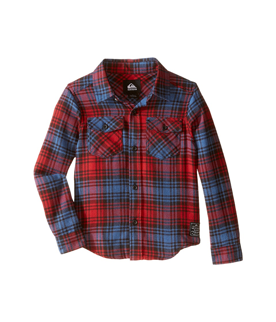 Quiksilver Kids - Everyday Flannel Shirt (Toddler/Little Kids) (American Beauty) Boy's Long Sleeve Button Up