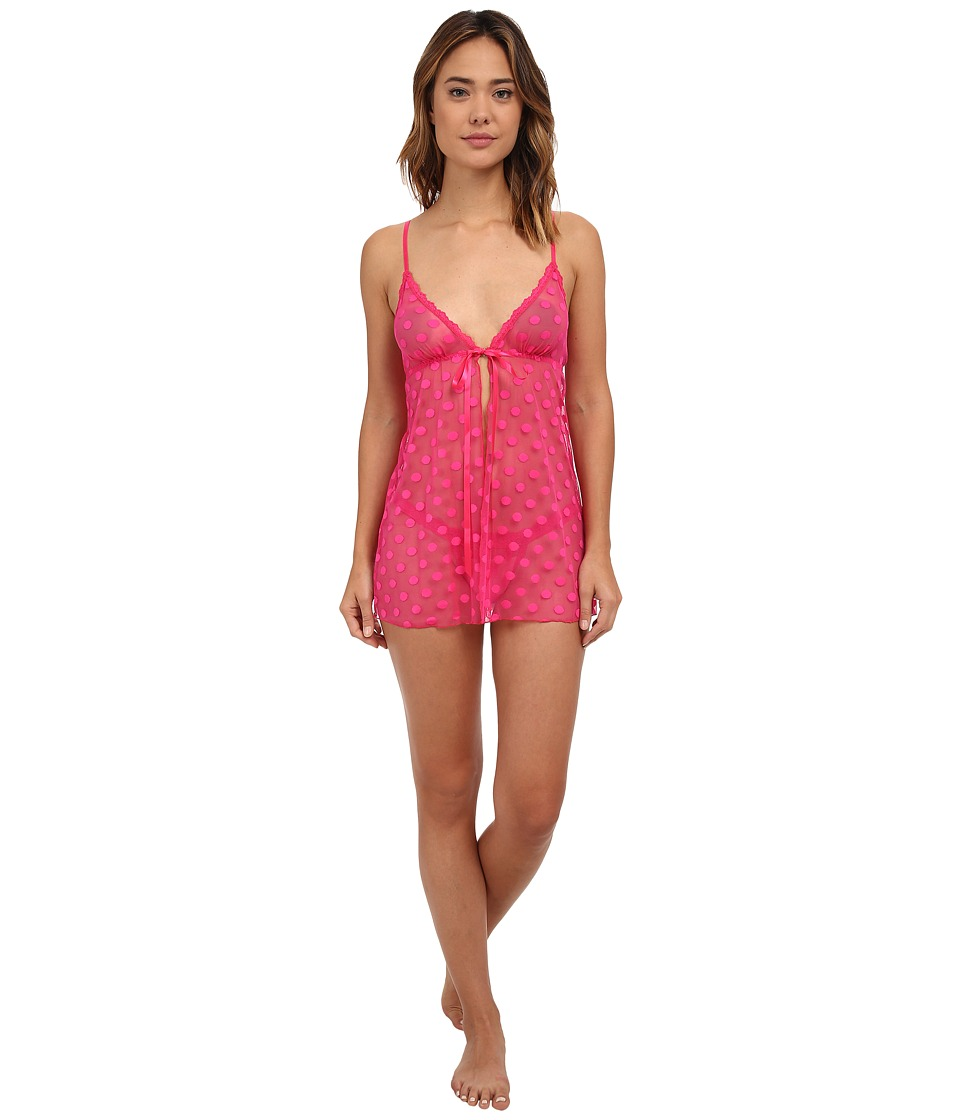 Hanky Panky - Hot Dot Babydoll w/ G-String (Tickled Pink) Women's Lingerie
