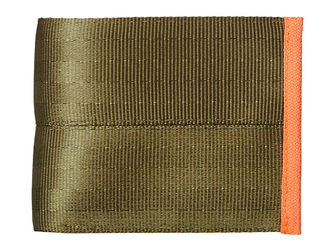 Harveys Seatbelt Bag - Boyfriend Wallet (Olive/Orange) Handbags