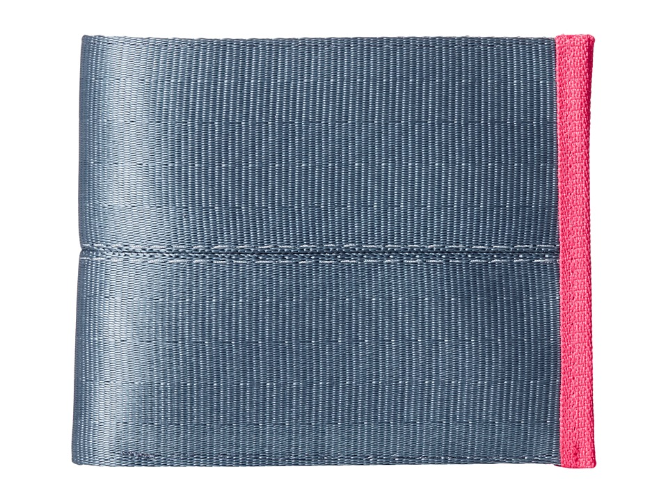 Harveys Seatbelt Bag - Boyfriend Wallet (Slate/Flamingo) Handbags