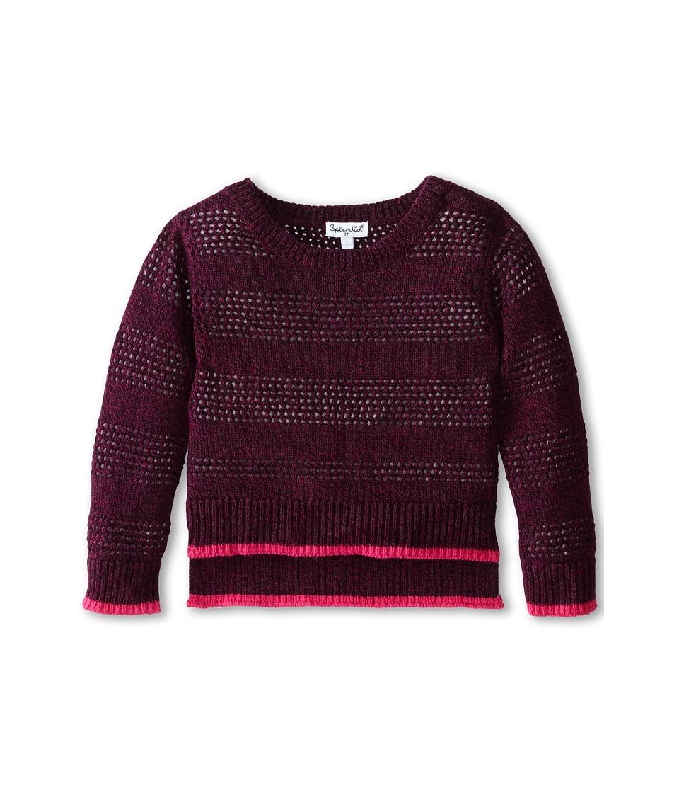 Splendid Littles - Full Fashion Marled Sweater (Toddler) (Plum) Girl's Sweater