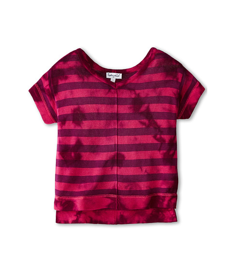 Splendid Littles - Tie-Dyed Loose Knit Top (Toddler) (Hot Pink) Girl's Short Sleeve Pullover