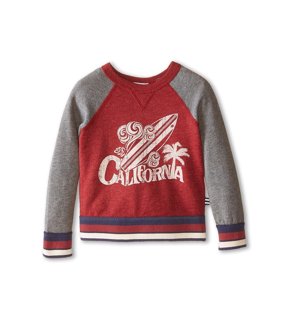 Splendid Littles - Raglan Pullover Sweatshirt (Toddler) (Dark Red) Boy