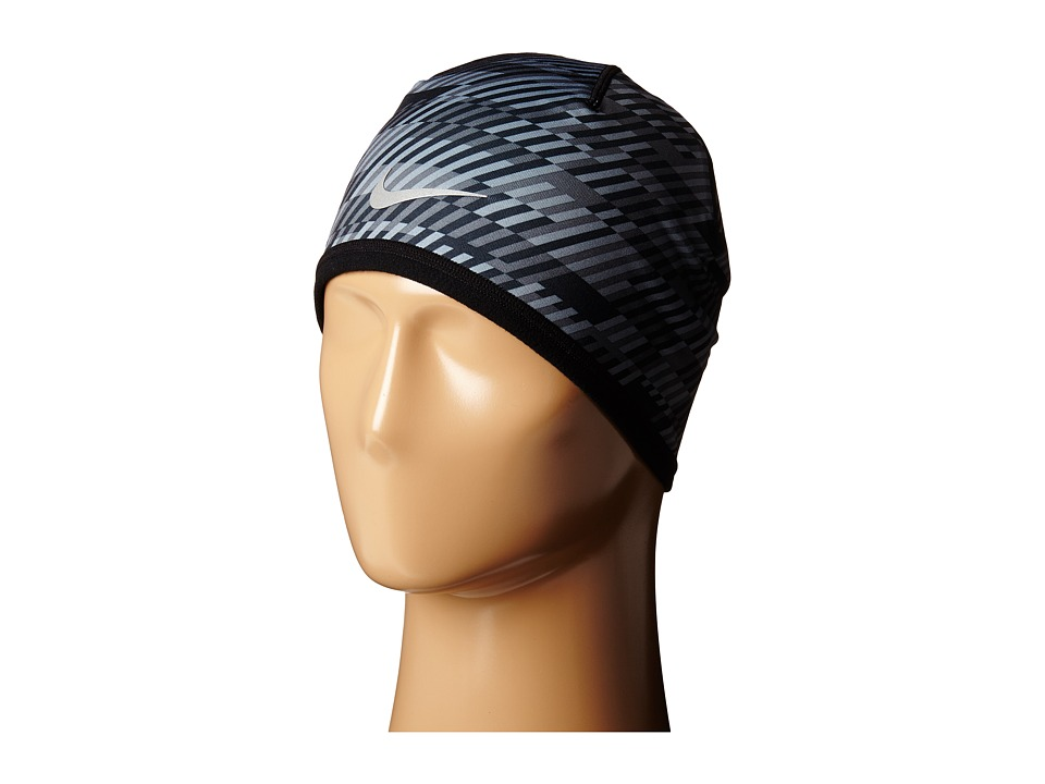Nike - Run Hazard Beanie (Black/Dark Grey/Reflective Silver) Beanies